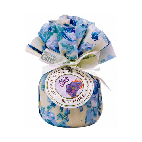 Sachet com 2 Sabonetes 100% Vegetal 90g Blue Flowers - Natural Gift
